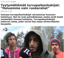 Tyytymättömät turvapaikanhakijat IL 1.10 2015
