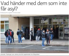 Vad händer med em som inte får asyl Sv Yle 8.10 2015