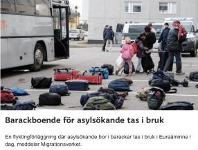 Barackboende för asylsökande i Euraåminne Hbl 13.11 2015