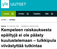 Kempeleen raiskauksesta Yle 24.11 2015