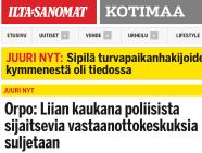 Liian kaukana Ilta-sanomat 27.11 2015