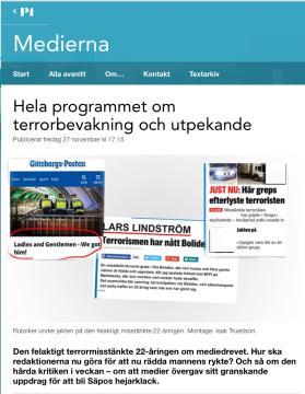 SR Medierna om terrorbevakning 27.11 2015