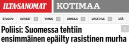 Suomessa tehtiin ensimmäinen IltaSanomat 2.11 2015
