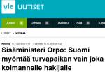 Suomi myöntääturvapaikan Yle 11.112015