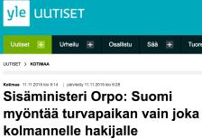 Suomi myöntääturvapaikan Yle 11.11 2015