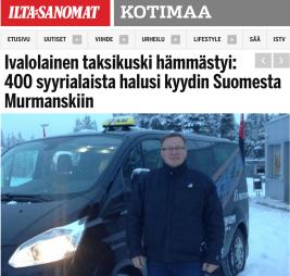 Taxichaufför 400 syrier till Murmansk 10.11 2015