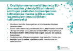 1. Osallistumme esimerkillämme ja EUjäsenmaiden 8.122015