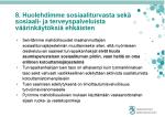 8. Huolehdimme sosiaaliturvasta 8.122015