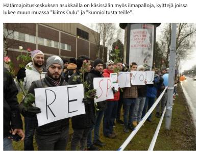 Asylsökande delade ut rosor