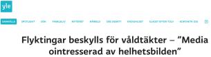 Flyktoingar beskylls för våldtäkter Yle 3.12 2015