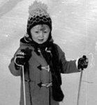 Karin på skidor