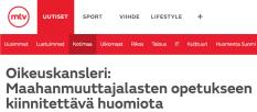 Maahanmuuttajalasten opetukseen MTV Uutiset 14.12 2015