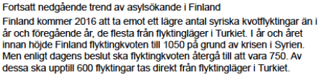 MIGs veckorapport 151230 Finland