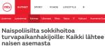 Naispoliisilta sokkihoitoa turvapaikanhakijoille MTV Uutiset 4.122015