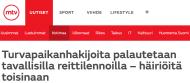 Turvapaikanhakijoita palautetaan MTV Uutiset 21.12 2015