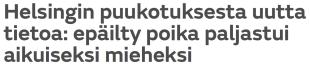 Helsingin puukotuksesta MTV 8.1 2016