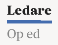 Ledare Op ed logoSvD