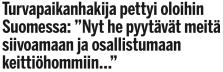 Turvapaikanhakija pettyi oloihin Ilta-Sanomat 12.1 2016