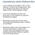 Uppdatering vöstra Balkanrutten MIG01-2016