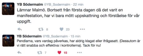 YB S-malm om gränskontrollerna 14.1 2016 ca 16.00