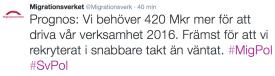MIG 4.2 2016 Vi behöver 420 Mkr mer för att