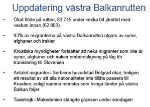 MIG Uppdatering västra Balkanrutten v 04-2016