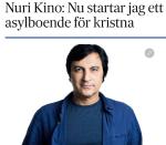 Nuri Kino asylboende förkristna