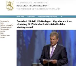 President Niinistö till riksdagen