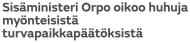 Sisäministeri Orpo oikoo huhuja 11.2 2016