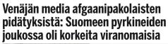 Venäjän media afgaani2 2016pakolaisten Ilta-sanomat 25.