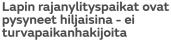 Lapin rajanylityspaikat MTV Uutiset 8.3 2016