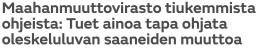 Maahanmuuttovirasto tiukemmista MTV Uutiset 8.3 2016