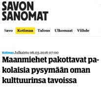 Maanmiehet pakottavat Savon Sanomat 6.3 2016