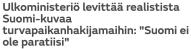 Ulkoministeriö levittää realistista MTV Uutiset 11.3 2016
