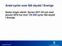 Antal syrier som fått skydd 6.4 2016