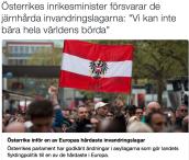 Österrike inför hårdaste inv lagarna Hbl 27.4 2016