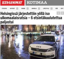 Helsingissä järjestettiin yöllä Iltasanomat 2.4 2016