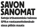 Satoja irtisanomisia Savon sanomat 1.4 2016