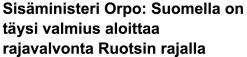 Suomella on täysi valmius Yle 6.5 2016