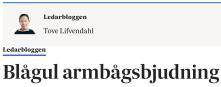 Blågul armbågsbjudning SvD 9.4 2014