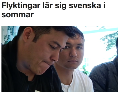 Flyktingar lär sig svenska 5