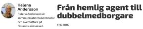Från hemlig agent Helena Andersson Finl amb 17.6 2016