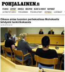 Tuomio perhekoti murha Pohjalainen 30.6 2016