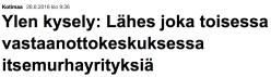 Vastaanottokeskuksessa itsemurhayrityksiä Yle 26.6 2016