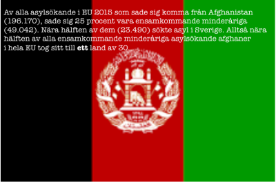Afghanistans flagga med text