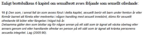 Vad är sexuellt ofredande
