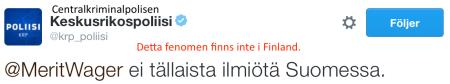 CKP Inga bilbränningar i Finland 17.8 2016