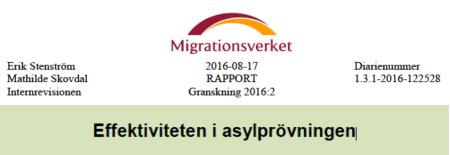 Effektiviteten i asylprövningen