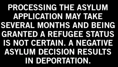 Processing the asylum application