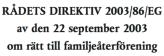 Rådets dir 200::86:EG om rätt till familjeåterförening